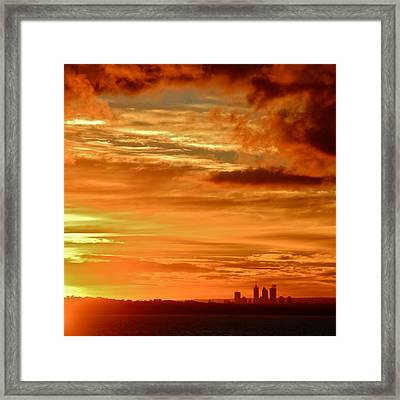 Early Morning Sunshine Over Fremantle Framed Print