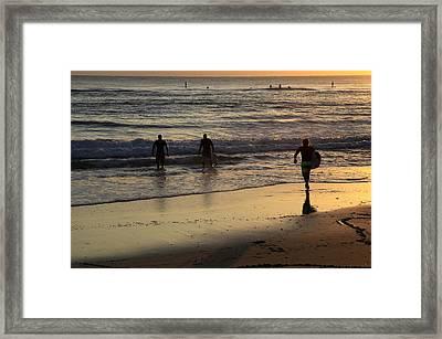 Early Morning Surf Framed Print by Noel Elliot