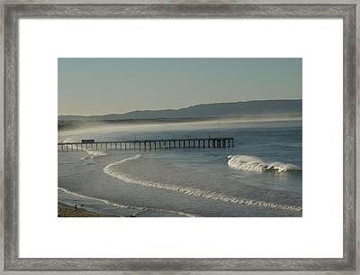 Early Morning Surf Pismo Beach Framed Print