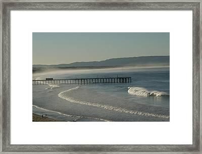 Early Morning Surf Pismo Beach Framed Print