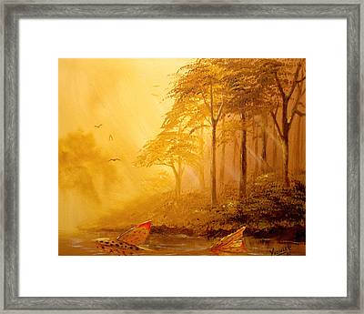 Early Morning Swim  Framed Print by Yusniel Santos