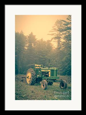 Old Farm Equipment Framed Prints