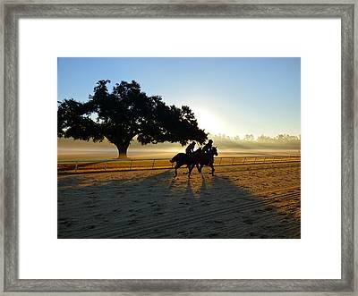 Early Morning Training Run Framed Print