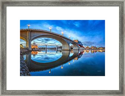 Early Morning Under Market Street Bridge Framed Print