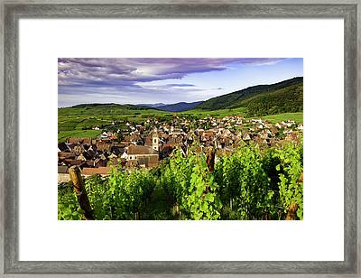 Early Morning View Over Riquewihr Framed Print