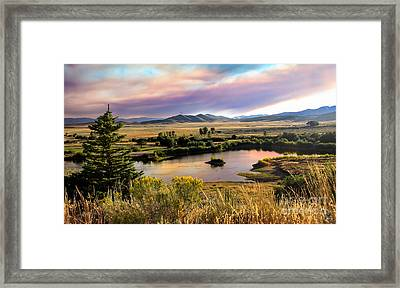 Early Morning View Framed Print by Robert Bales