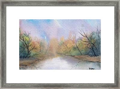 Framed Print featuring the painting Early Morning Waterway by Rebecca Davis