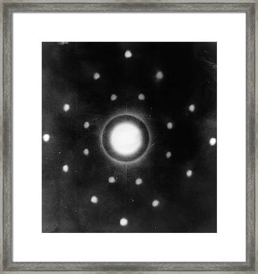 Early Neutron Diffraction Imaging Framed Print by Oak Ridge National Laboratory, Courtesy Emilio Segre Visual Archives/american Institute Of Physics