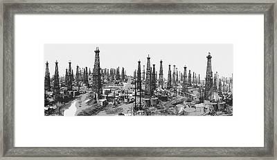 Early Oil Field Framed Print