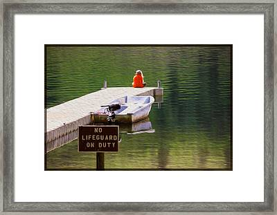 Early One Morning On Patterson Lake Framed Print by Omaste Witkowski
