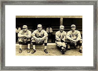 Early Red Sox Framed Print by Benjamin Yeager