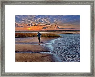 Early Rise Low Tide Framed Print