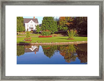 Early September Pond Reflections Framed Print