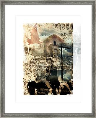 Early Settlers  Framed Print by Bob Salo