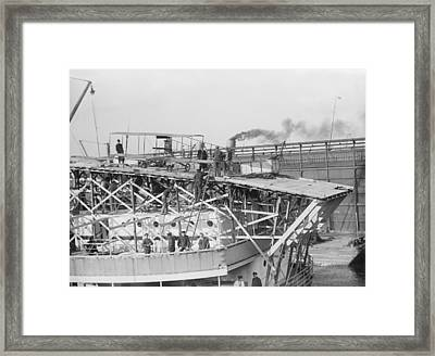 Early Ship Flight Attempt, 1910 Framed Print