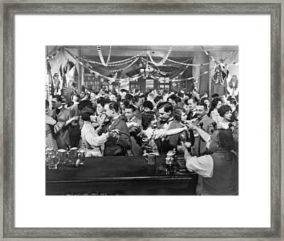 Early Silent Movie Scene Framed Print