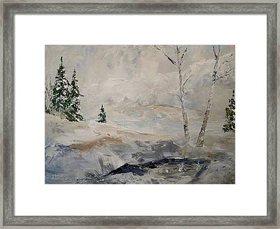 Framed Print featuring the painting Early Snow by Alan Lakin