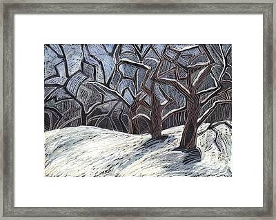 Framed Print featuring the drawing Early Snow by Grace Keown