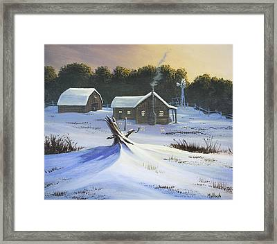 Early Snow Framed Print by Jack Malloch