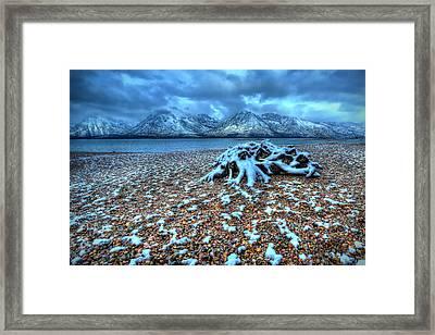 Early Snow On The Tetons Framed Print