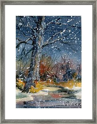 Early Snowfall Framed Print