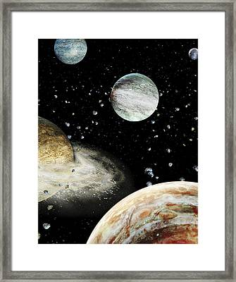 Early Solar System Planets Framed Print