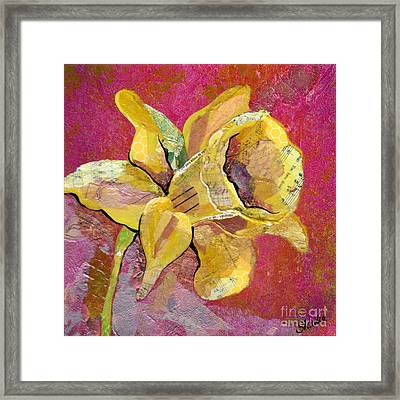 Early Spring I Daffodil Series Framed Print by Shadia Derbyshire
