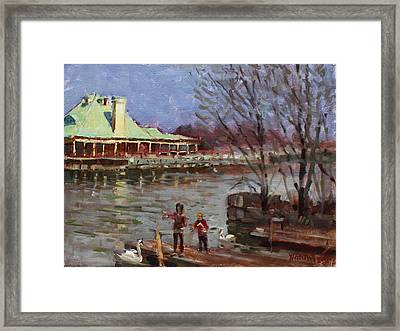 Early Spring In Portcredit Mississauga Framed Print