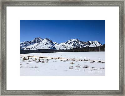 Early Spring In The Sawtooth Range Framed Print by Robert Bales