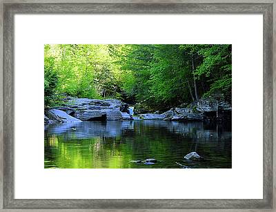Early Spring Morning At Rock Run Cataracts Framed Print