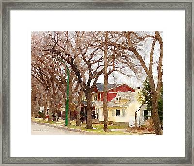Early Spring Street Framed Print