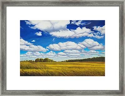 Early Summer Clouds Framed Print by Leonard Heid