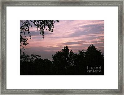 Early Sunrise In Central Illinois Framed Print