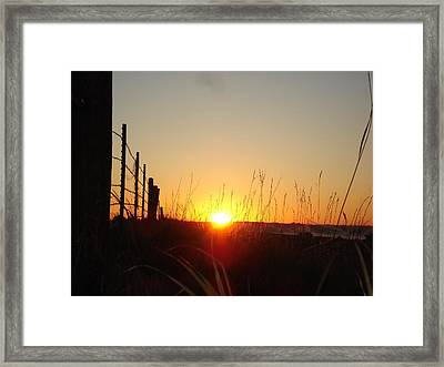 Framed Print featuring the photograph Early Sunrise In September by J L Zarek