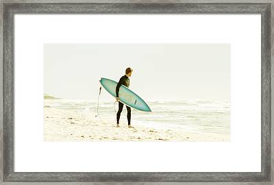 Early Surf Framed Print by Lindy Brown