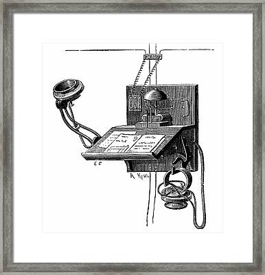 Early Telephone Apparatus Framed Print by Universal History Archive/uig