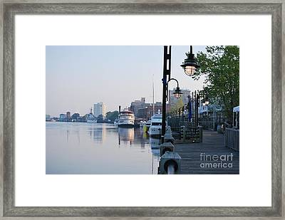 Framed Print featuring the photograph Early Morning Walk Along The River by Bob Sample