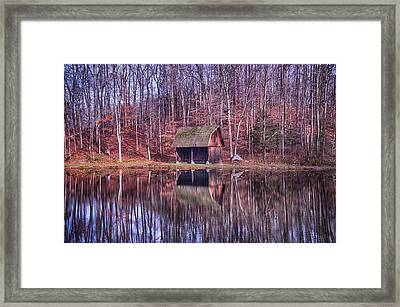 Early Winter At The Boat House Framed Print by Daphne Sampson