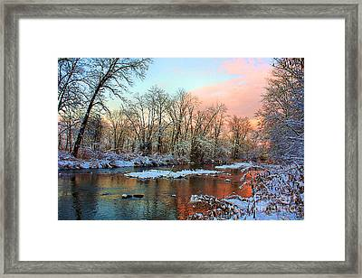 Early Winter Snow Framed Print by Mike Griffiths