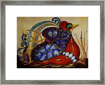 Early Worm Gets The Bird Framed Print