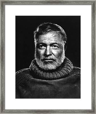 Earnest Hemingway Close Up Framed Print by Retro Images Archive