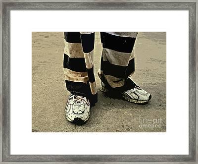Earning Stripes Framed Print by Joe Jake Pratt