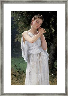 Earrings Framed Print by William Adolphe Bouguereau