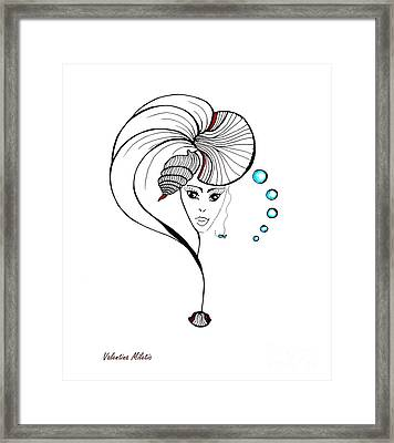 Shell Fairy - Art By Valentina Miletic Framed Print by Valentina Miletic
