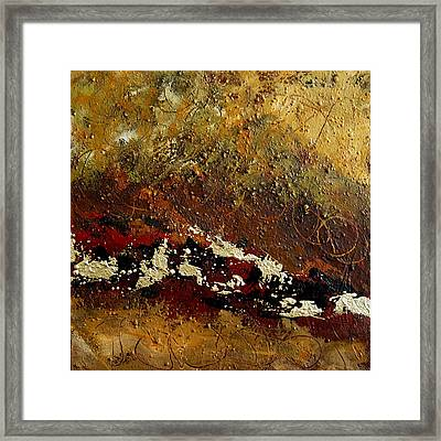 Framed Print featuring the painting Earth Abstract Four by Lance Headlee