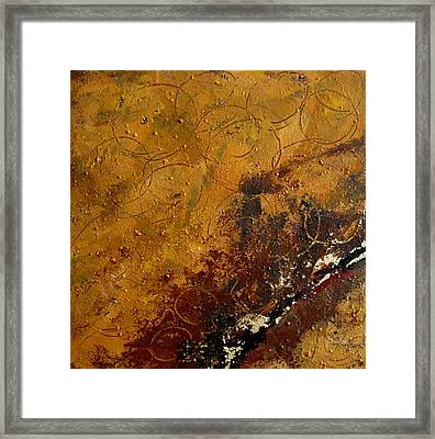 Framed Print featuring the painting Earth Abstract Two by Lance Headlee