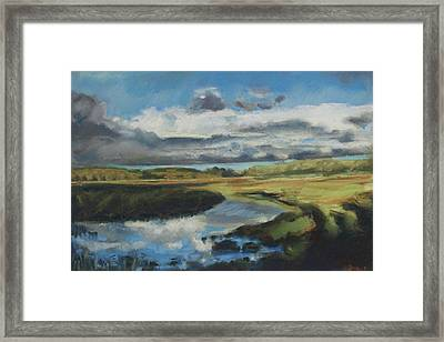 Framed Print featuring the pastel Earth Air Water by Grace Keown