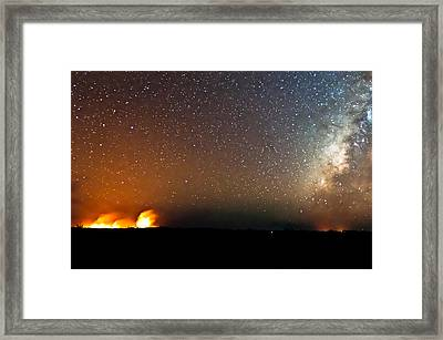 Earth And Cosmos Framed Print