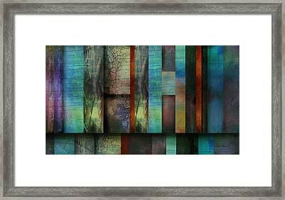 Earth And Sky  Abstract Art  Framed Print