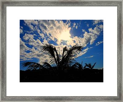 Earth And Sky Meet Framed Print by Sherry Dooley